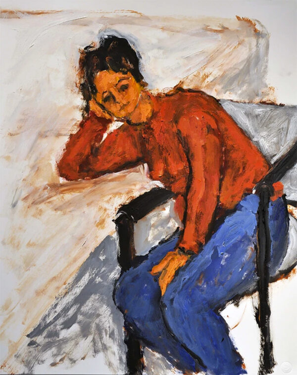 Woman on a Sofa by Victor Mashaal