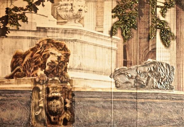 Guardians of the Louvre - 45.5cm x 60cm