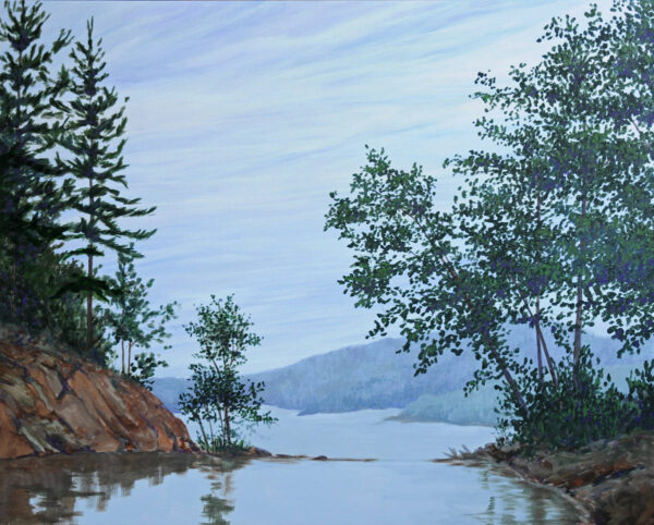 "Lake Temagami - 30"" x 40"" - acrylic on canvas - Carol Loeb"